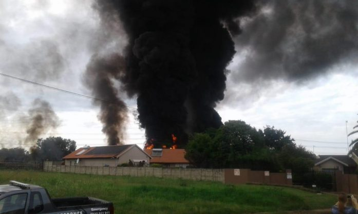 Alberton fuel pipeline fire 1 - Theft May Have Let To Alberton Fuel Pipeline Fire